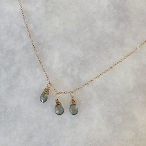 Handmade Romantic 3-Stone Necklace
